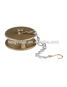 Cap with chain UNI 45 BRASS (Italian standart)