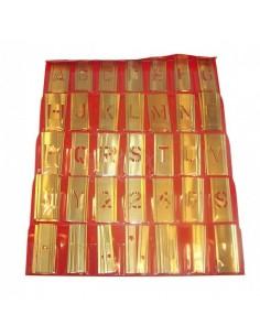 Stencil set brass 76 pcs 76 mm