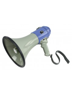 Megaphone 25W, supply 8x1.5V R14C, with integrated microphone