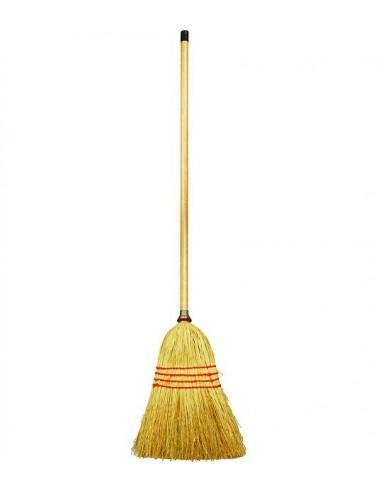 Cornbroom with long handle