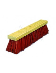 Broom PVC red 40 cm