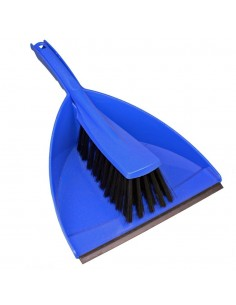 Plastic hand-brush with dust pan