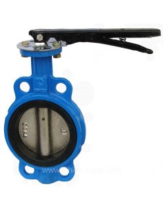 Butterfly valve, wafer type, GG25, NBR/EPDM, SS316, PN16