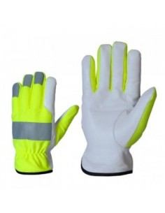 Cowhide gloves with...