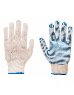Simple knitted gloves with...