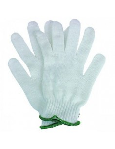 Simple knitted gloves