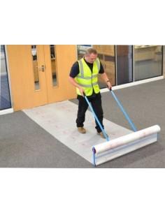 Carpet protection film 1200mm x 100m Flame Retardant embossed TS63 cert.