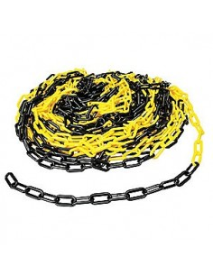 PVC chain 7.5mm yellow/black
