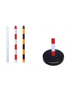 Plastic pole with sand base for PVC chain H110 cm